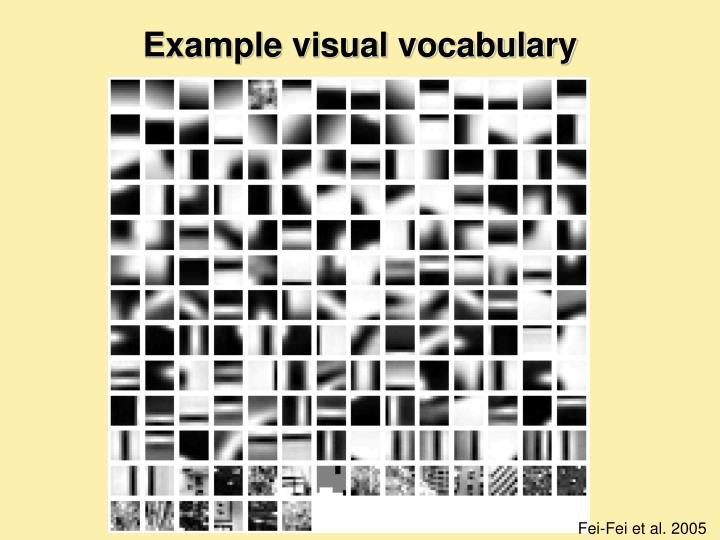 Example visual vocabulary
