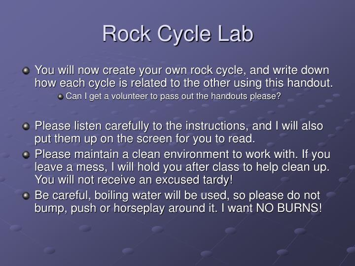 Rock Cycle Lab