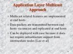 application layer multicast approach