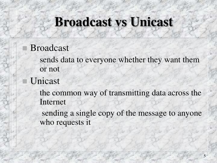 Broadcast vs Unicast