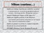 mbone continue