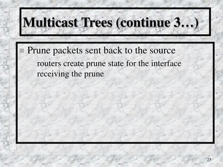 Multicast Trees (continue 3…)