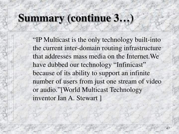 Summary (continue 3…)