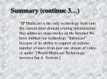 summary continue 3