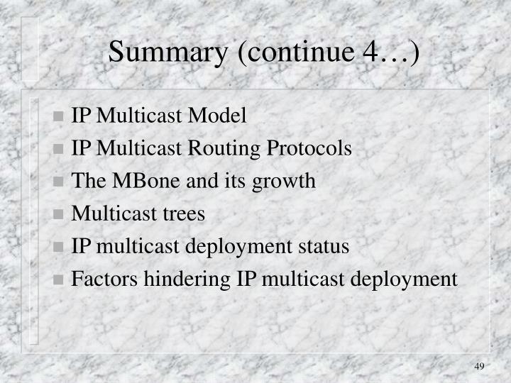 Summary (continue 4…)