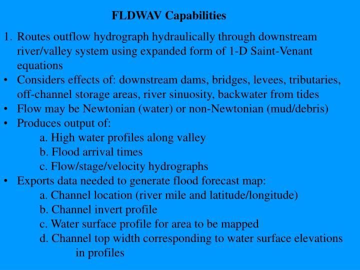 FLDWAV Capabilities