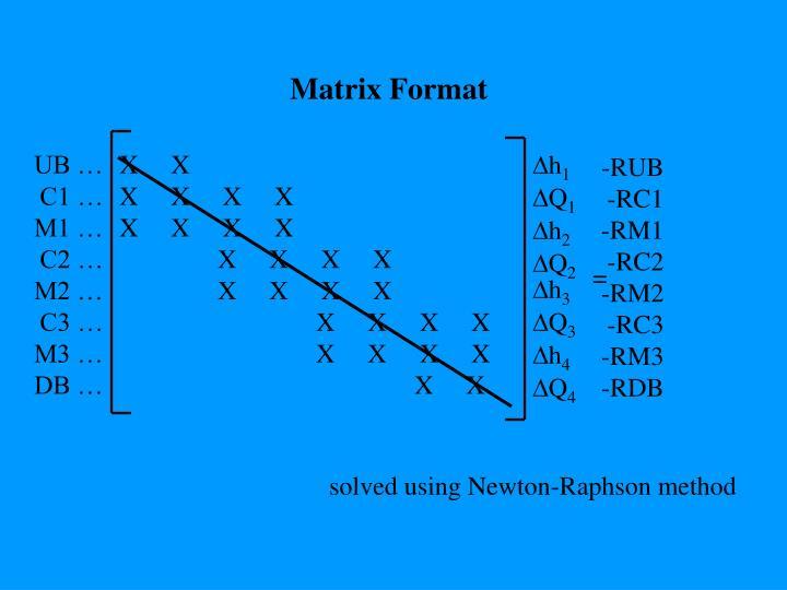 Matrix Format
