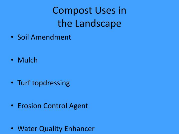 Compost Uses in