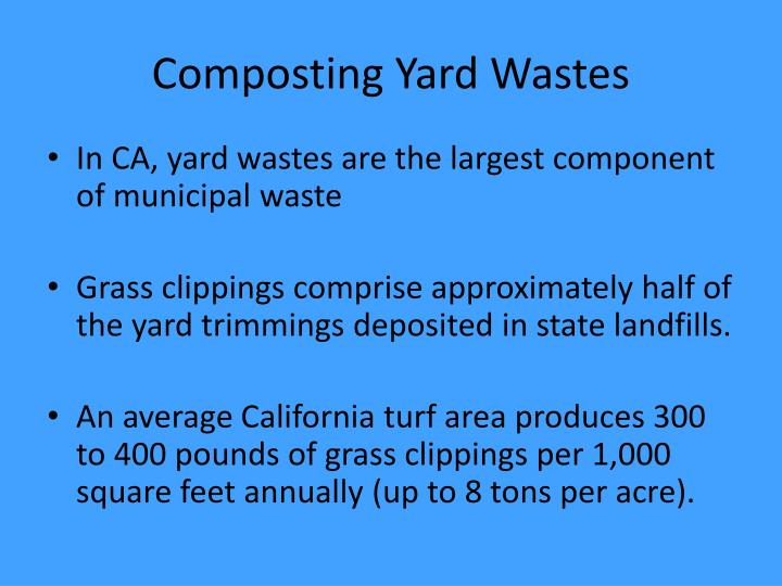 Composting Yard Wastes