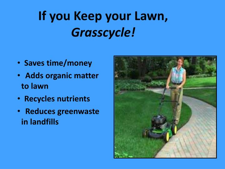 If you Keep your Lawn,