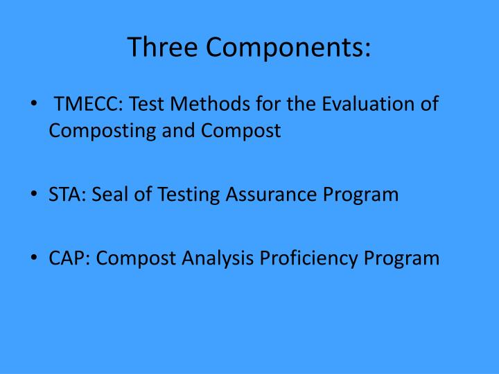 Three Components: