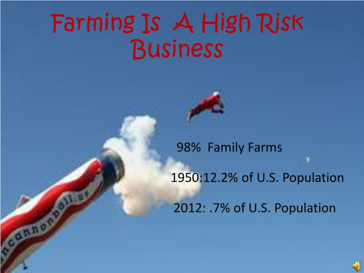 Farming Is  A High Risk Business