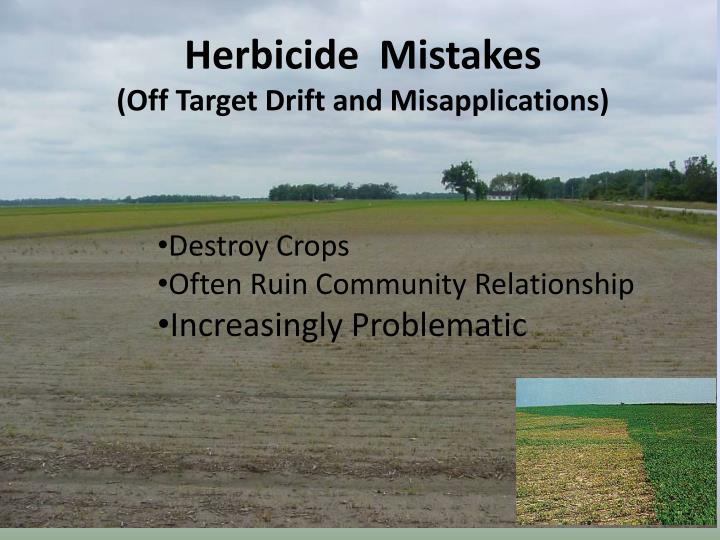 Herbicide  Mistakes