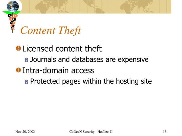 Content Theft