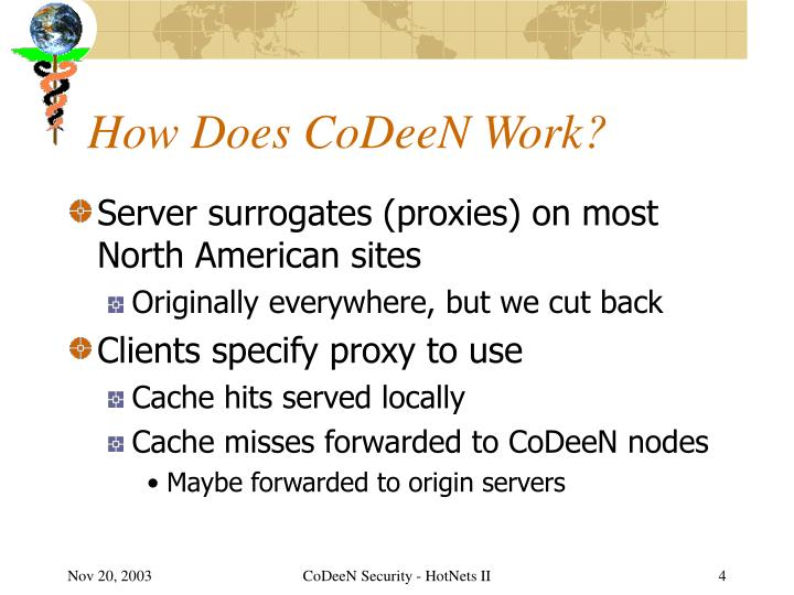 How Does CoDeeN Work?