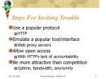 steps for inviting trouble