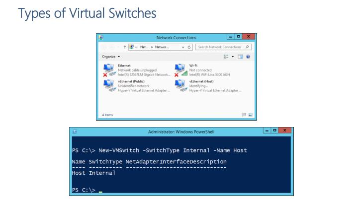 Types of Virtual Switches