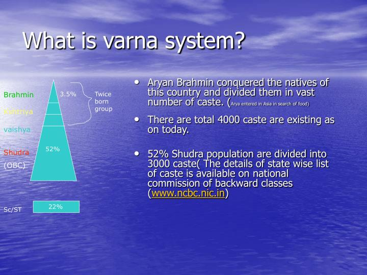 What is varna system?