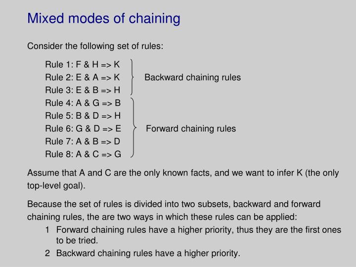 Mixed modes of chaining