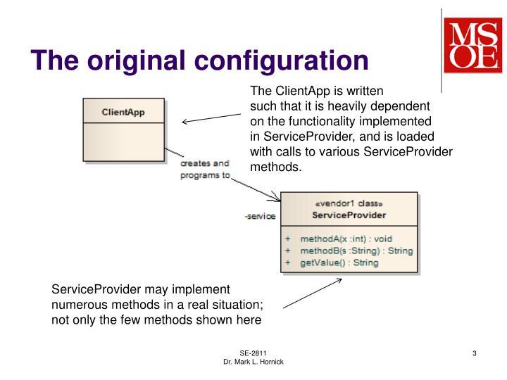 The original configuration