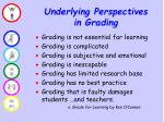 underlying perspectives in grading
