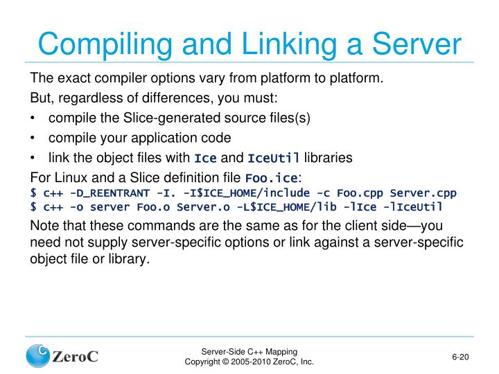 Compiling and Linking a Server
