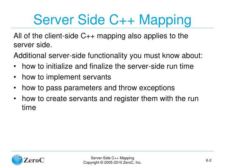 Server Side C++ Mapping