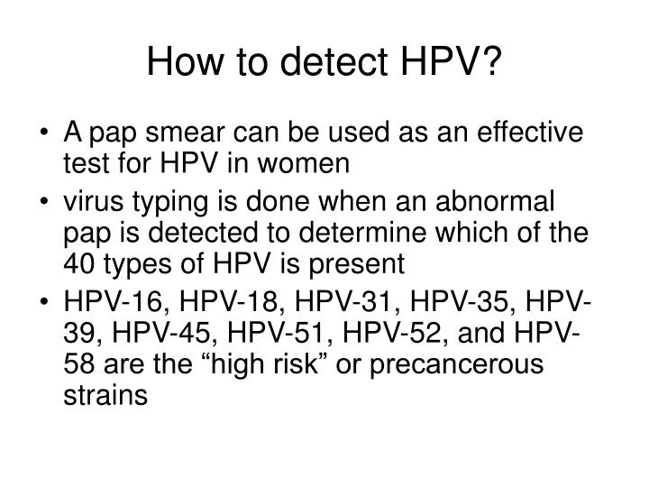 How to detect HPV?