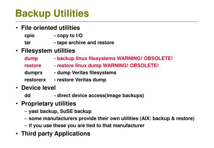 Backup Utilities