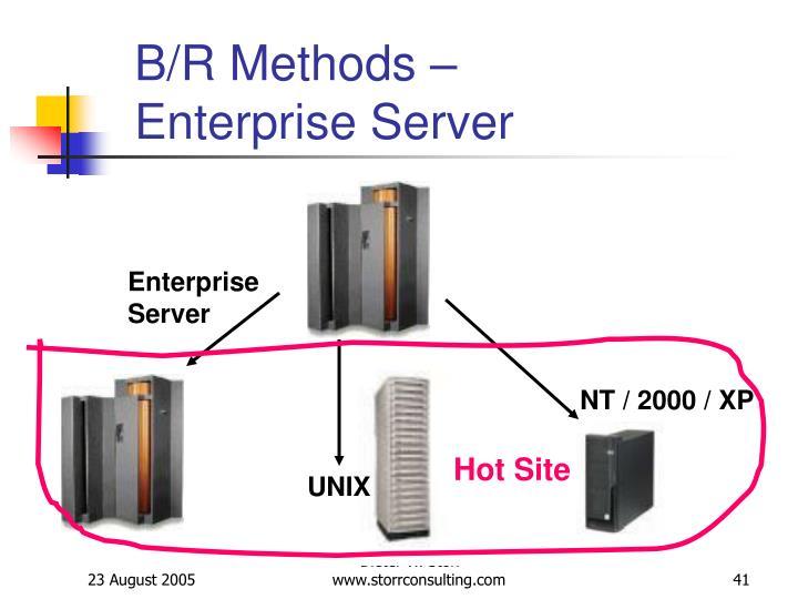B/R Methods – Enterprise Server