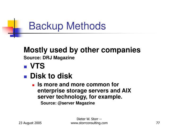 Backup Methods