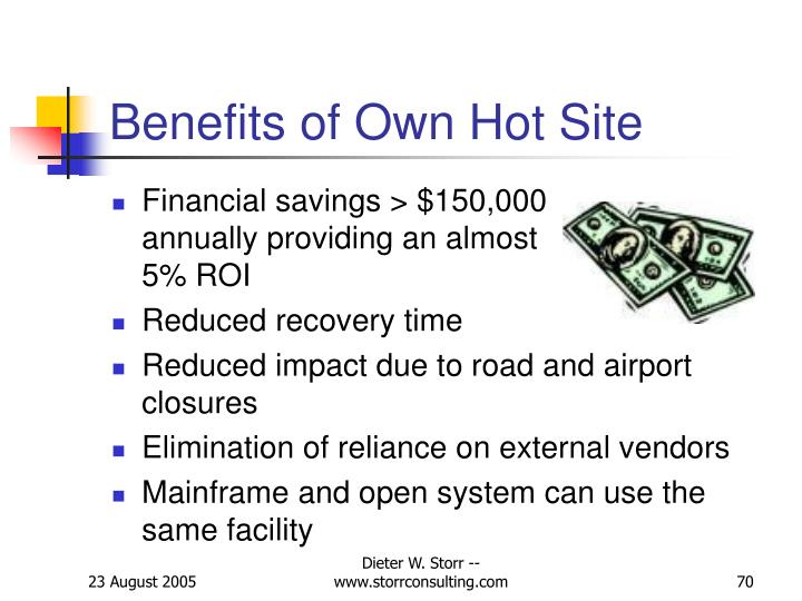 Benefits of Own Hot Site