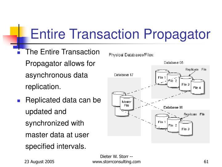 Entire Transaction Propagator