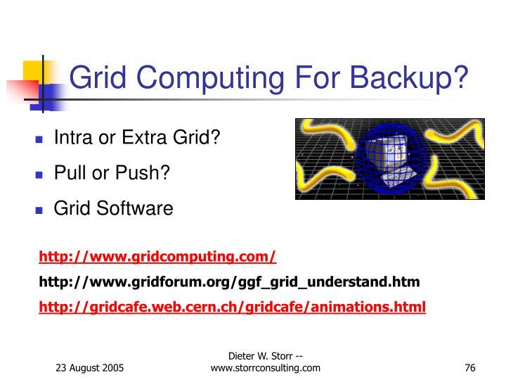 Grid Computing For Backup?