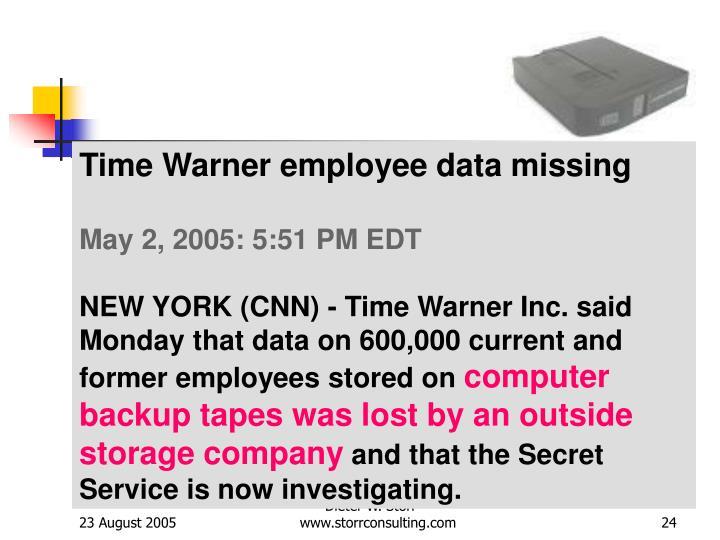 Time Warner employee data missing