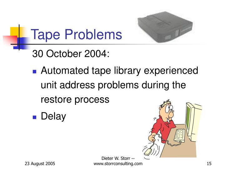Tape Problems