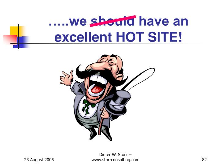 …..we should have an excellent HOT SITE!