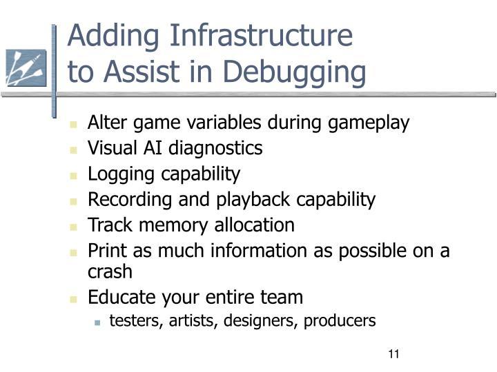 Adding Infrastructure