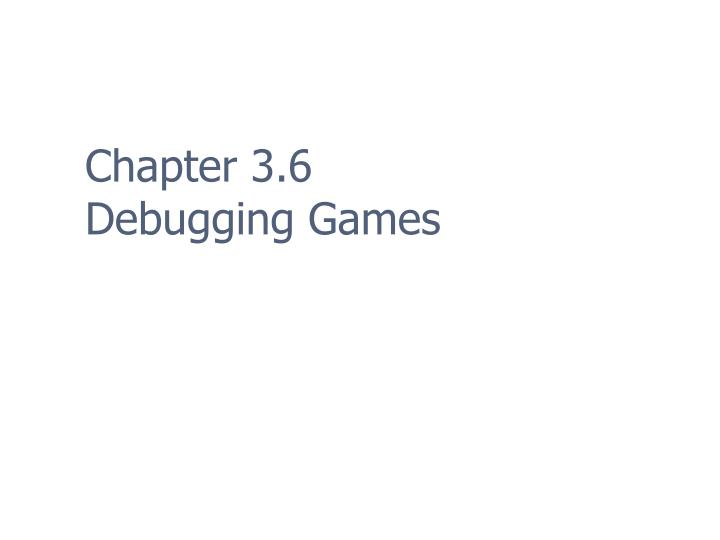 Chapter 3.6