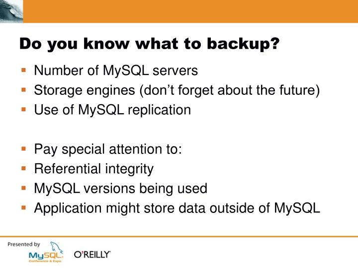 Do you know what to backup?