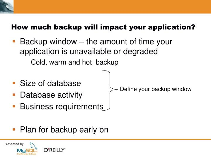 How much backup will impact your application?