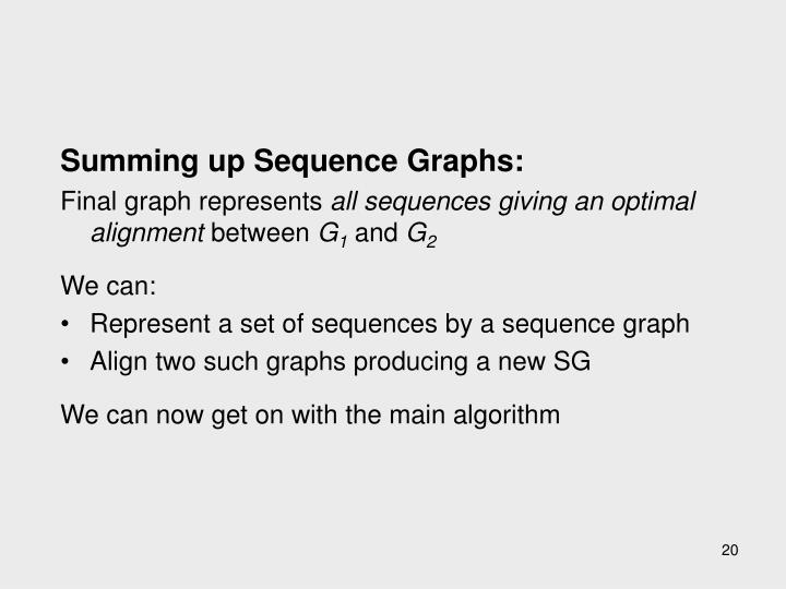 Summing up Sequence Graphs: