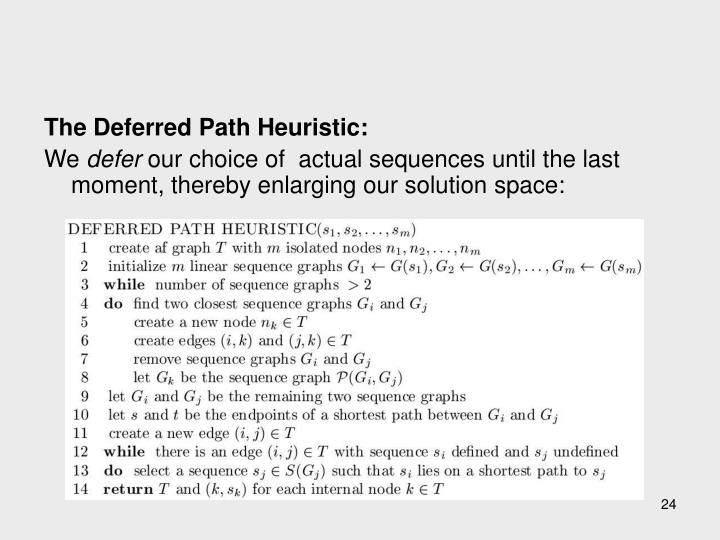 The Deferred Path Heuristic: