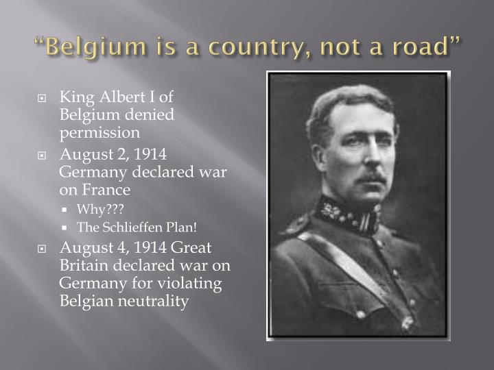 """Belgium is a country, not a road"""