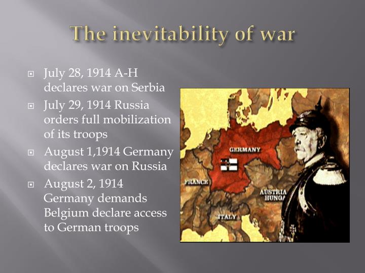 The inevitability of war