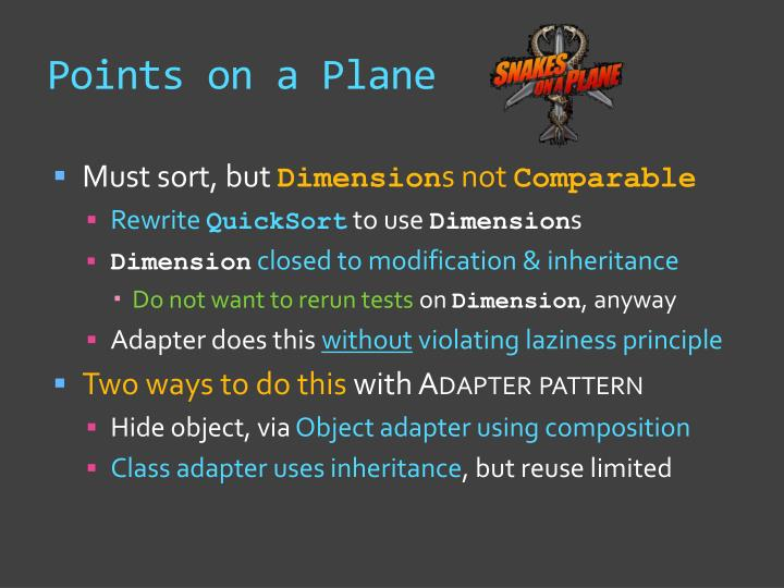 Points on a Plane