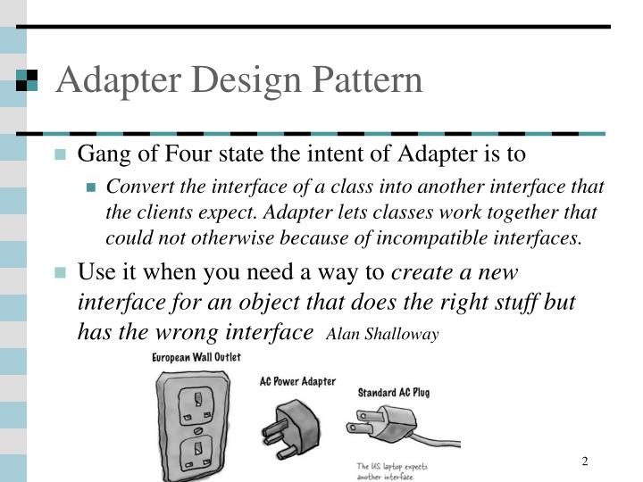 Adapter design pattern