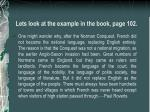 lets look at the example in the book page 102
