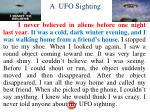 a ufo sighting