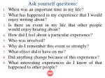 ask yourself questions